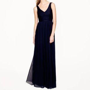 J.Crew $365 Silk Chiffon Heidi Gown Black dress
